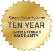 Simple Savery System 10 Year Warranty